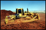 Bulldozer carrying out rehabilitation