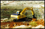 Rehabilitation with excavator - click to enlarge